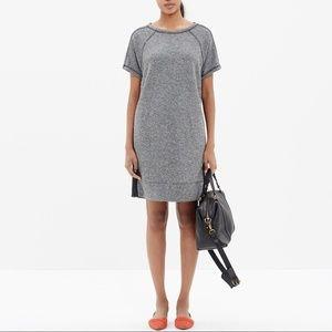 Madewell Panorama Sweatshirt Short Sleeve Dress M